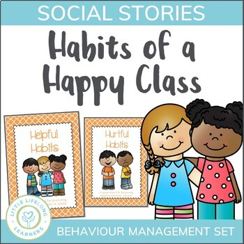 Habits of a Happy Class - Behavior Management Social Stories and Posters