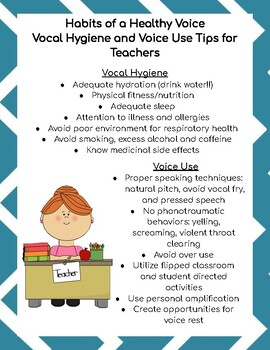 Habits of a Healthy Voice for Teachers