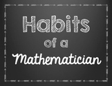 Habits of a Mathematician Signs Mini Posters FREEBIE