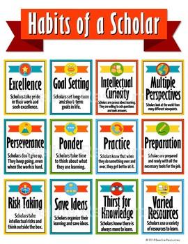 """Habits of a Scholar Poster Set / 8.5"""" x 11"""""""