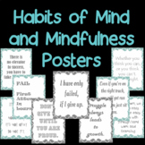 Habits of mind and mindfulness posters in teal and gray- 4