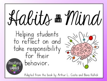 Habits of the Mind Classroom Posters