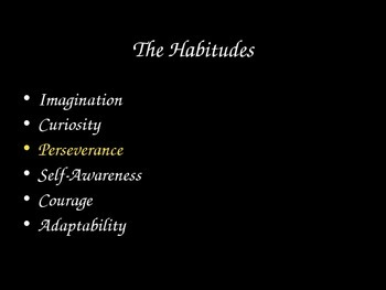 Habitudes - Perseverance