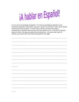 Hablar en Español