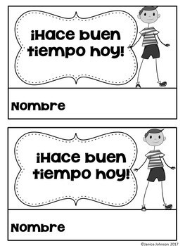 Hace buen tiempo hoy ~ It is Nice Out Today Weather Readers {Bilingual version}