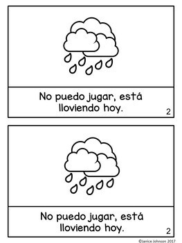 Hace buen tiempo hoy ~ It is Nice Out Today Weather Readers {Bilingual bundle}
