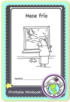 Hace frío Winter Clothes Printable Spanish Minibook