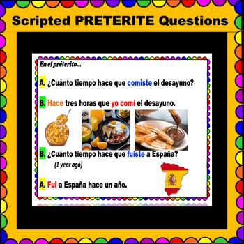 Hace que - ¿Cuánto tiempo hace que -QUESTIONS for Spanish class!