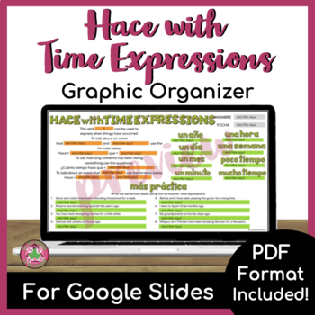 Hace with Time Expressions Graphic Organizer