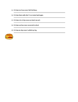 Hace+anos- Hacer + time Spanish Practice Sheet or Worksheet
