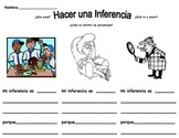 Hacer Una Inferencia 3. Make an Inference Worksheet #3