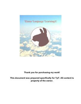 Hacer and Tener Conjugation Practice - Spanish Beginner/Intermediate