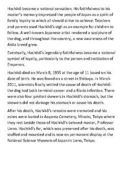 Hachikō Handout