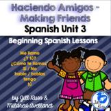 Cómo te llamas? Me llamo: Beginning Spanish Lessons for Elementary