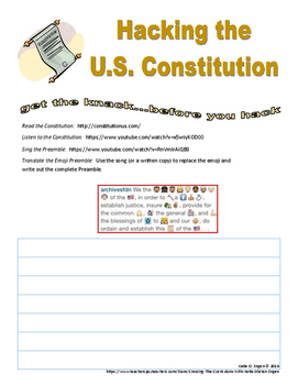 Hacking the Constitution - a primer for informed young citizens