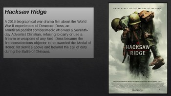Hacksaw Ridge - Accompaniment Power Point for movie