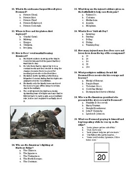 Hacksaw Ridge Movie Quiz By Oldeye Teachers Pay Teachers