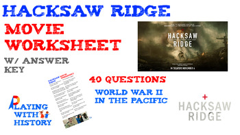 Hacksaw Ridge Movie Worksheet