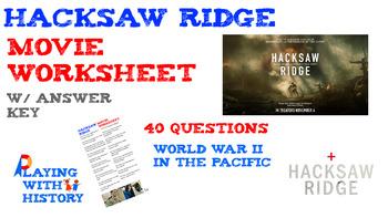 Hacksaw Ridge Movie Worksheet