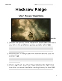 Hacksaw Ridge Short Answer Questions (Viewing Questions)