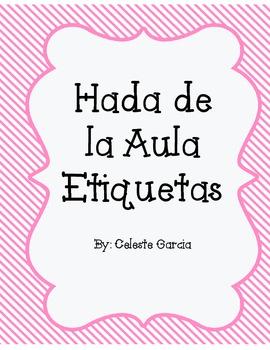 Hada de la Aula Etiquetas (Classroom Fairy) Spanish