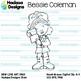 Hadasa Designs: Bessie Coleman Clip Art - B&W Set