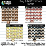 Hadasa Designs: Boy & Girl Emoticons Clip Art - Bundle 1
