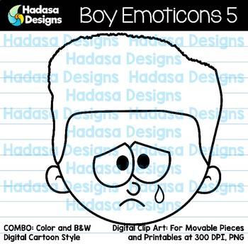 Hadasa Designs: Boy & Girl Emoticons Clip Art - Bundle 3