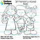 Hadasa Designs: Differently Abled Kids clip art - B&W Set