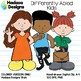 Hadasa Designs: Differently Abled Kids clip art - Color Set