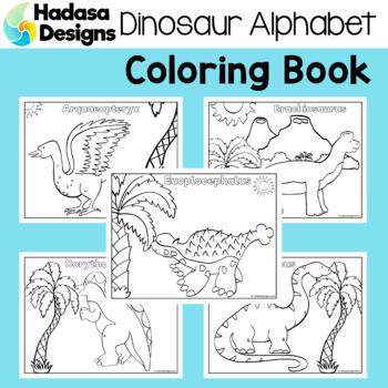Hadasa Designs: Dinosaur Alphabet Coloring Book by Hadasa Designs