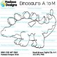 Hadasa Designs: Dinosaur Clip Art - A to M - B&W Set