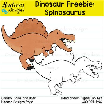 Hadasa Designs: Dinosaur Clip Art FREEBIE - Spinosaurus