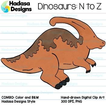 Hadasa Designs: Dinosaur Clip Art - N to Z - COMBO PACK