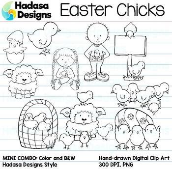 Hadasa Designs: Easter Chicks Clip Art Mini Combo Pack