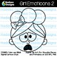 Hadasa Designs: Girl Emoticons Clip Art 2 - Combo Pack