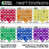 Hadasa Designs: Heart Emoticons Clip Art - Rainbow Bundle