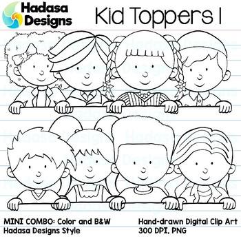 Hadasa Designs: Kid Toppers Clip Art Mini Combo 1