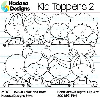 Hadasa Designs: Kid Toppers Clip Art Mini Combo 2