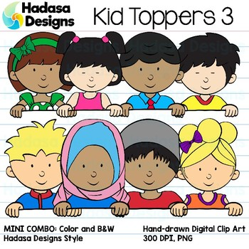 Hadasa Designs: Kid Toppers Clip Art Mini Combo 3