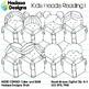 Hadasa Designs: Kid Heads Reading Clip Art Mini Combo 1