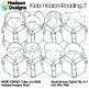 Hadasa Designs: Kid Heads Reading Clip Art Mini Combo 2