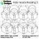 Hadasa Designs: Kid Heads Reading Clip Art Mini Combo 3