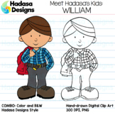 Hadasa Designs: Meet William Clip Art FREEBIE