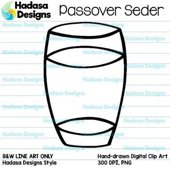 Hadasa Designs: Passover Seder - B&W Set