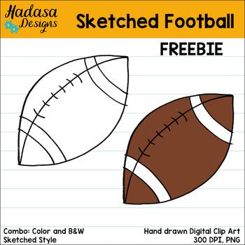 Hadasa Designs: Sketched Football Clip Art FREEBIE