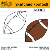 Hadasa Designs: Sketched Football Clip Art FREEBIE