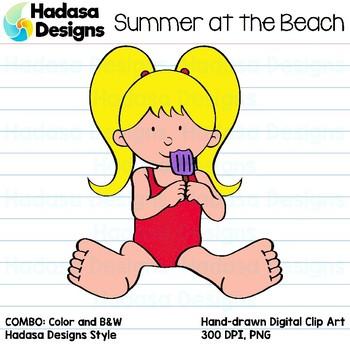 Hadasa Designs: Summer at the Beach Clip Art - COMBO PACK