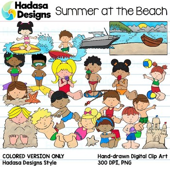Hadasa Designs: Summer at the Beach Clip Art - Color Set