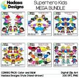 Hadasa Designs: Superhero Clip Art - MEGA BUNDLE